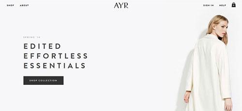 AYR - 简约网页设计