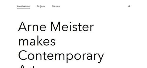 Arne Meister - 简约网页设计