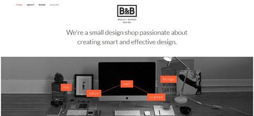 Brault Barnes Design - 简约网页设计