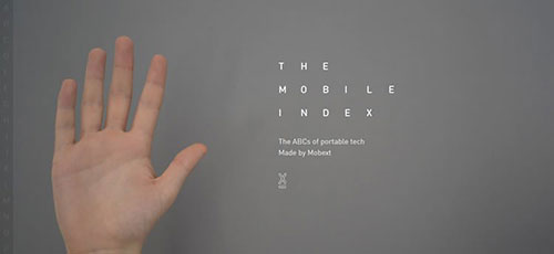 The Mobile Index - 时尚 简约网页设计