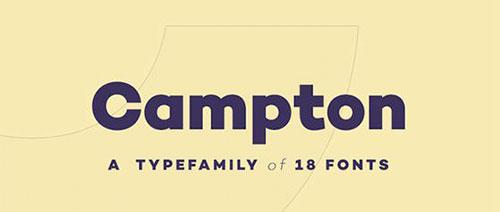 campton01 字体下载