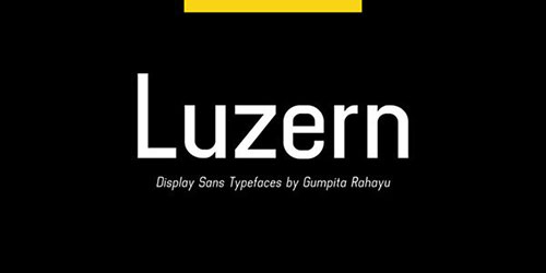 luzern-font 字体下载