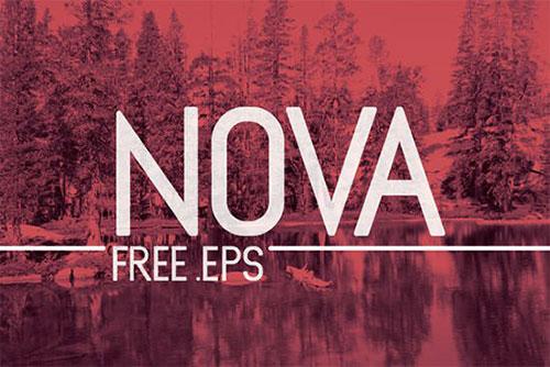 nova-free-eps 字体下载