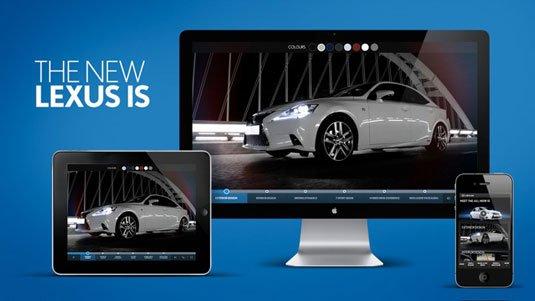 视觉滚动 网站  Lexus