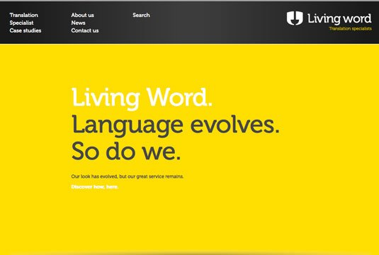 视觉滚动 网站  Living Word