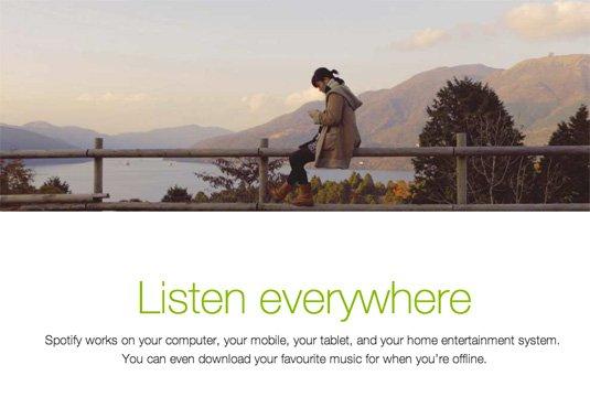 视觉滚动 网站  Spotify