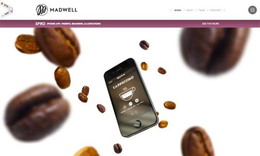 视觉滚动 网站  Madwell