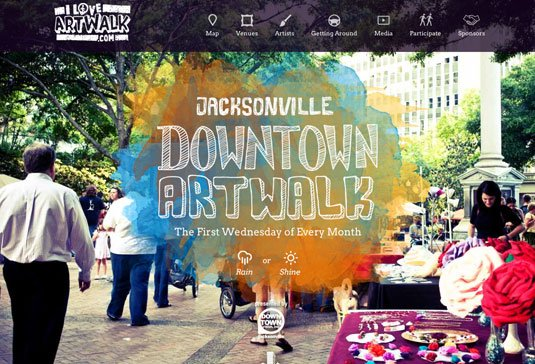 视觉滚动 网站  The Jacksonville Downtown Art Walk