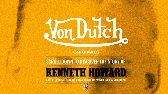 视觉滚动 网站  Von Dutch