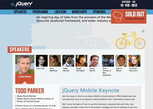 视觉滚动 网站  jQuery conference