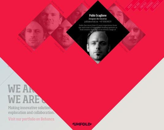 视觉滚动 网站  We Are Unfold