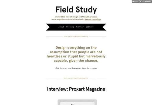 Field Study 设计博客