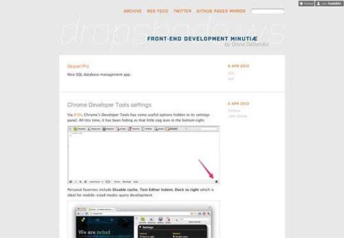 Dropshadows 设计博客