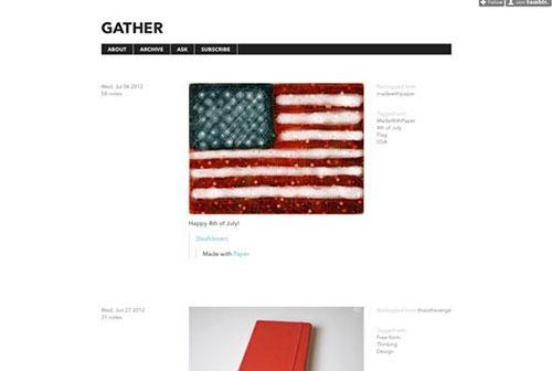 Gather 设计博客