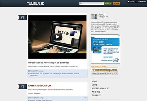 Tumblr-3D 设计博客