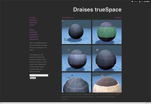 Draises-trueSpace 设计博客