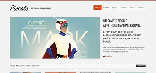 Piccolo 自适应HTML网站模板