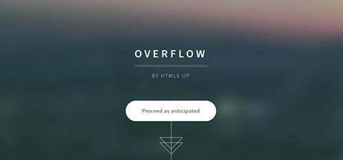 Overflow 响应式 html CSS 网站模板