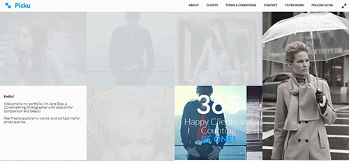 Picku 响应式 html CSS 网站模板