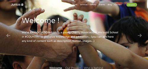 Juntos 响应式 html CSS 网站模板