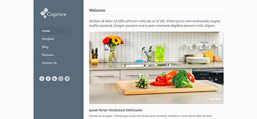 Caprice 响应式 html CSS 网站模板