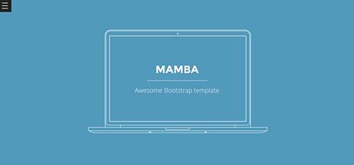 Mamba 响应式 html CSS 网站模板