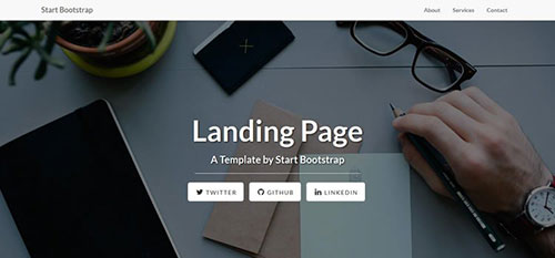 Landing Page 响应式 html CSS 网站模板