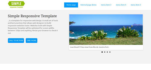 Simple 自适应HTML网站模板