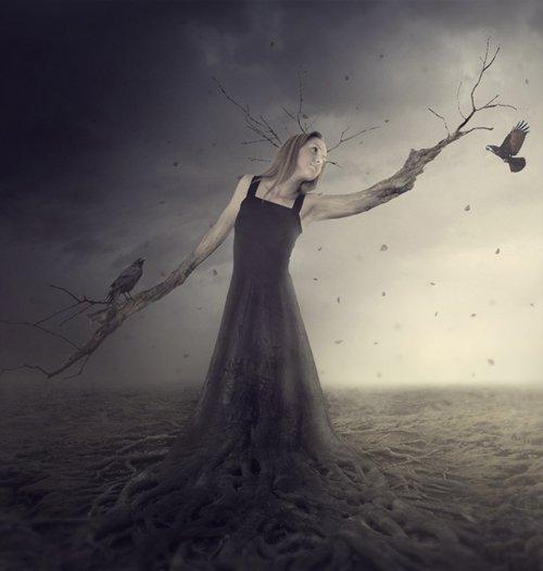 PS创建一个幻想的女人树场景