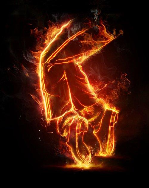 在Photoshop上创建简单实用的火焰效果