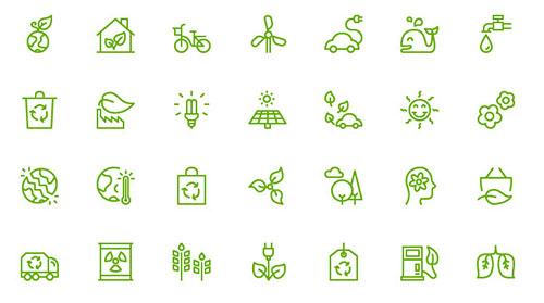 矢量生态环保图标