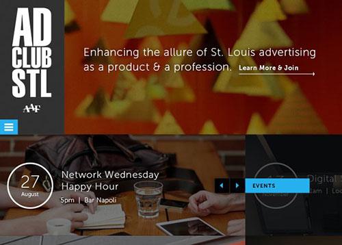 Ad Club Saint Louis #CSS3 #网页设计