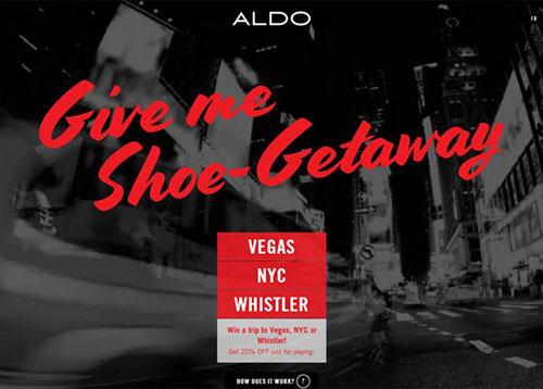 ALDO Shoe Getaway #CSS3 #网页设计