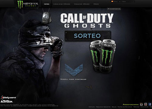 Monster Energy COD Ghosts #CSS3 #网页设计