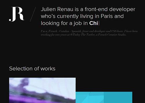 Julien Renau #CSS3 #网页设计