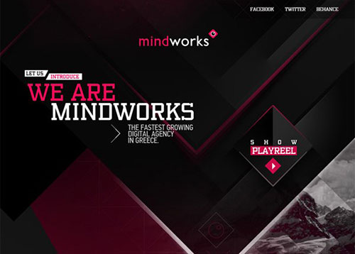 Mindworks digital agency #CSS3 #网页设计