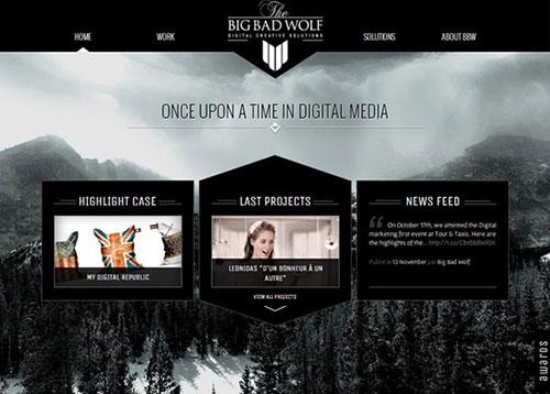Big Bad Wolf #CSS3 #网页设计