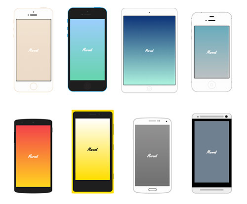 8-Pure-CSS-Flat-Mobile-Devices