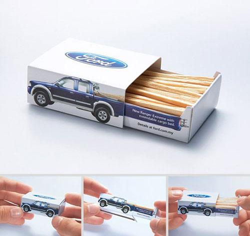 福特汽车的火柴盒 包装设计