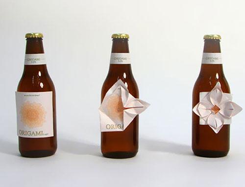 可以折纸的啤酒瓶 瓶子设计