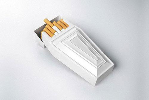 棺材形状的烟盒 包装设计