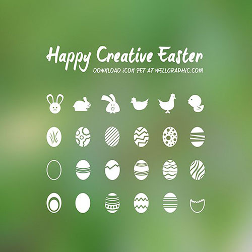 Happy Creative Easter by Pontus Wellgraf 50套免费icon图标素材精选
