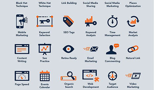 40 Free SEO & Online Marketing Icons by Zee Que 50套免费icon图标素材精选