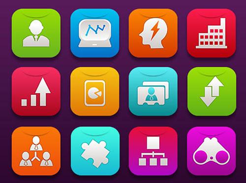 16 Free iOS7 Business Icons by Ferman Aziz 50套免费icon图标素材精选