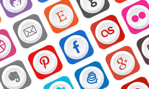 Free Rounded Flat Social Media Icons by Ferman Aziz 50套免费icon图标素材精选