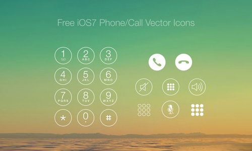 Free iOS7 Phone/Call Vector Icons by Ronald Hagenstein 50套免费icon图标素材精选