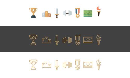 Champicons icons of champions by Emanuel Serbanoiu 50套免费icon图标素材精选