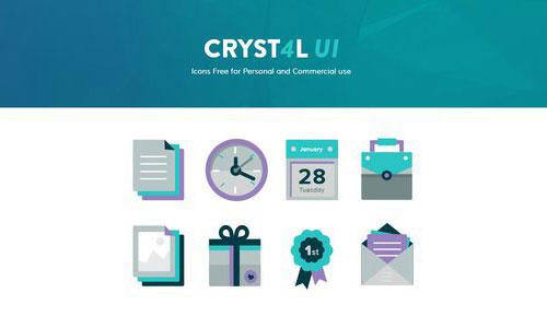 Cryst4l UI by Teodora 50套免费icon图标素材精选