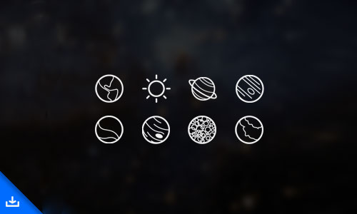 Space Icons by Kevin White 50套免费icon图标素材精选