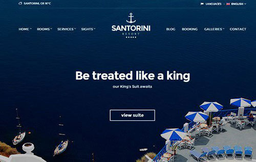 santorini-wpthem wordpress酒店主題